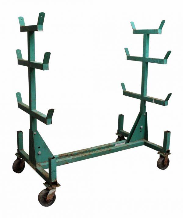 Green Industrial Conduit Cart