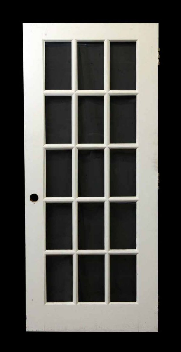 15 Glass Panel French Door