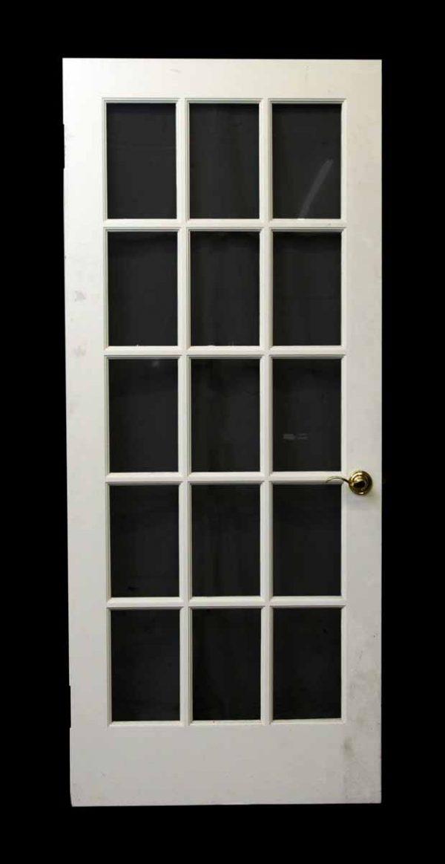 15 Glass Panel White Door