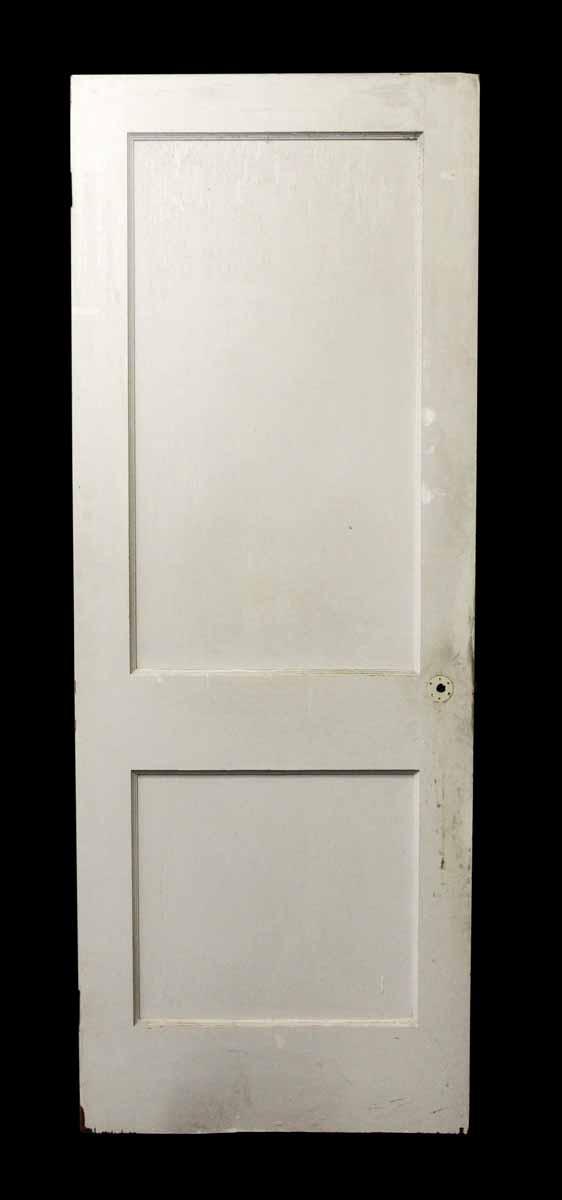 Two Panel Wood White Door