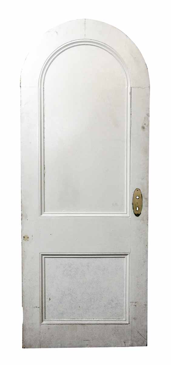 Arched White Wooden Door