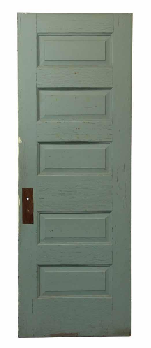Five Panel Blue & White Door