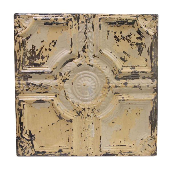 Distressed Tan Tin Panel