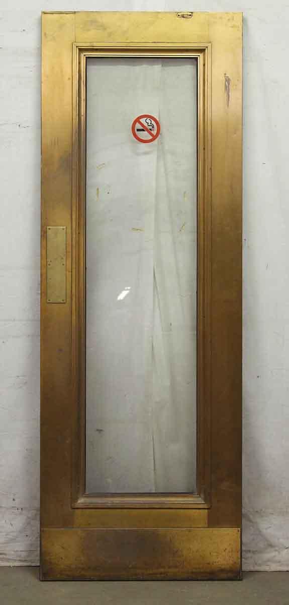 Single Glass Panel Deco Brass Door Olde Good Things