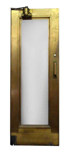 Single Glass Panel Deco Brass Door with Closer