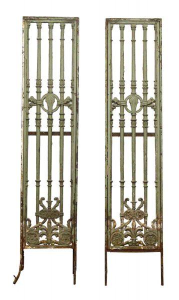 Decorative Iron Panels with Art Nouveau Motif
