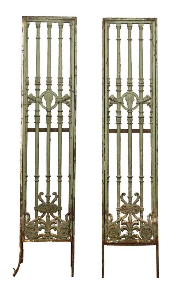 Decorative Iron Panels with Art Nouveau Motif