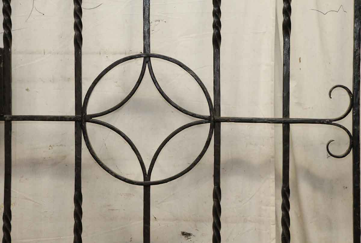 Antique simple iron gate with arrow head finials olde