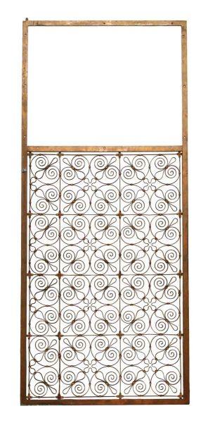 Brass Fleur de Lis Banded Metal Panel