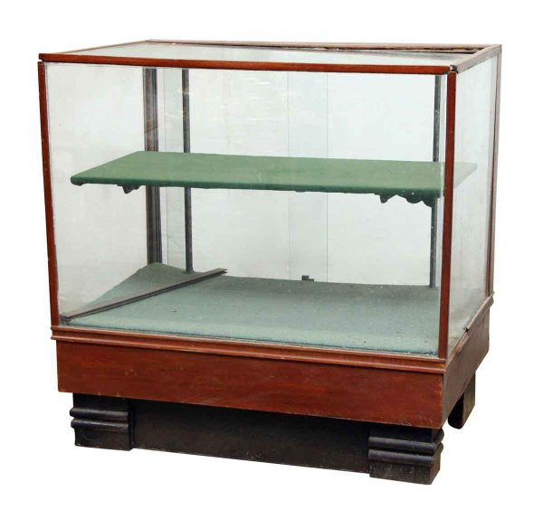 Petite Glass Showcase with Single Demi Shelf