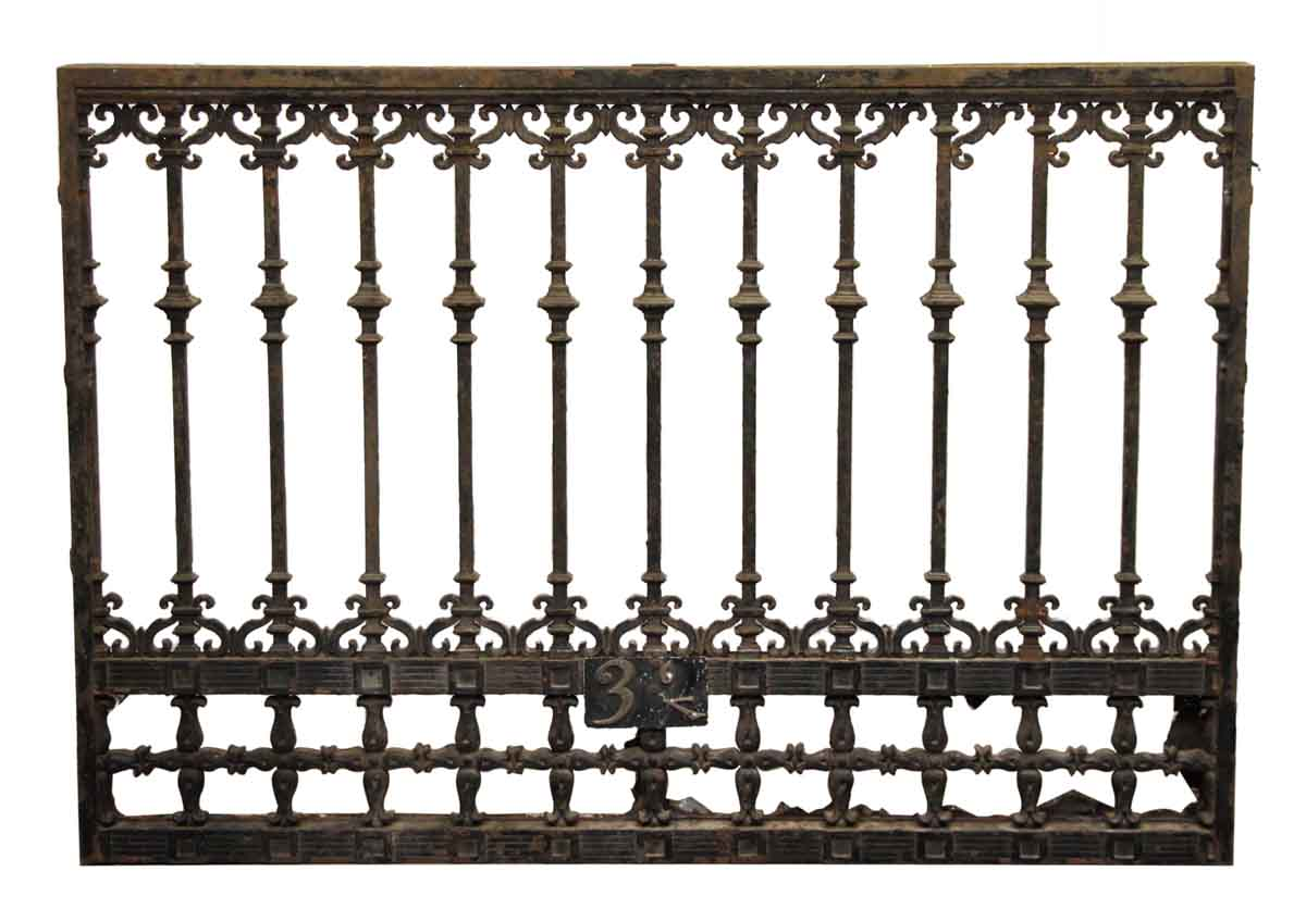 Scroll detail iron panel or window guard olde good things for Window scroll