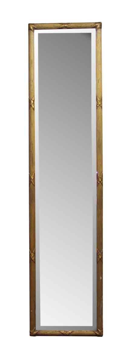 Gilt Tall Wall Mirror with Original Beveled Glass