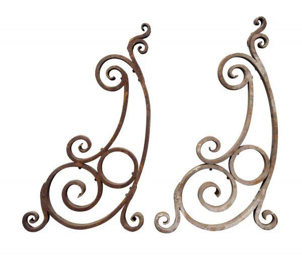 Pair of Iron Swirl Brackets