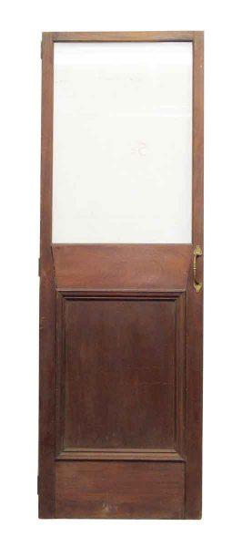 Walnut Door with Half Glass Panels