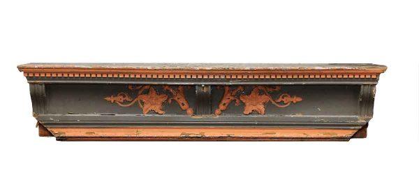 Carved Wooden Mantel Shelf