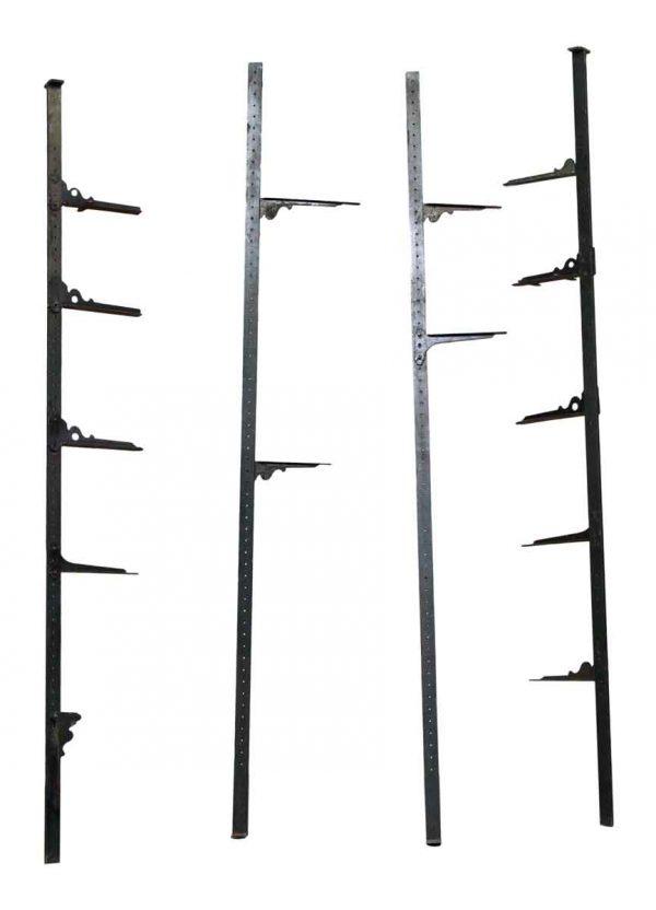 Set of Four Wall Shelf Black Brackets