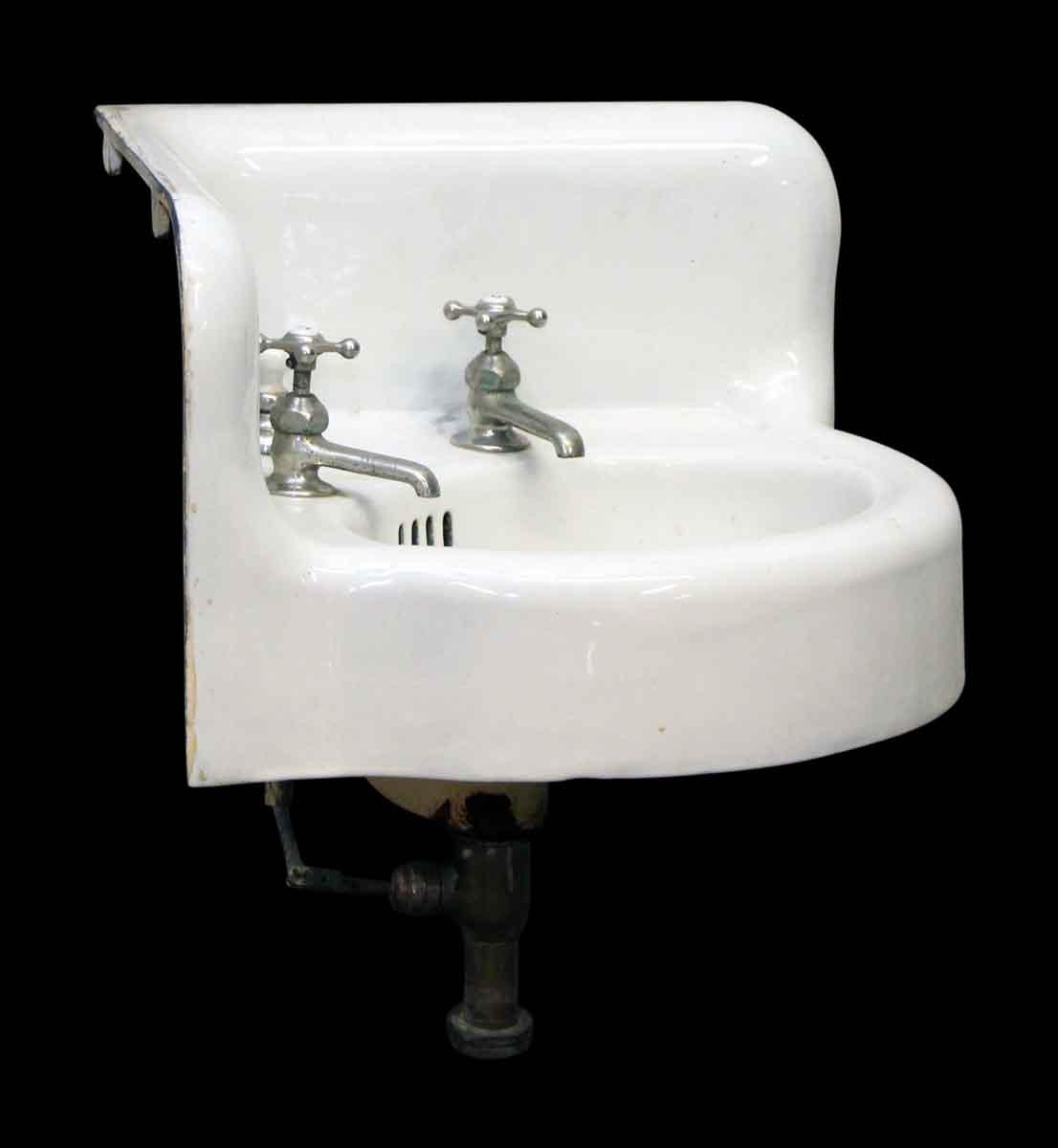 Porcelain Corner Sink With Original Hardware Olde Good Things