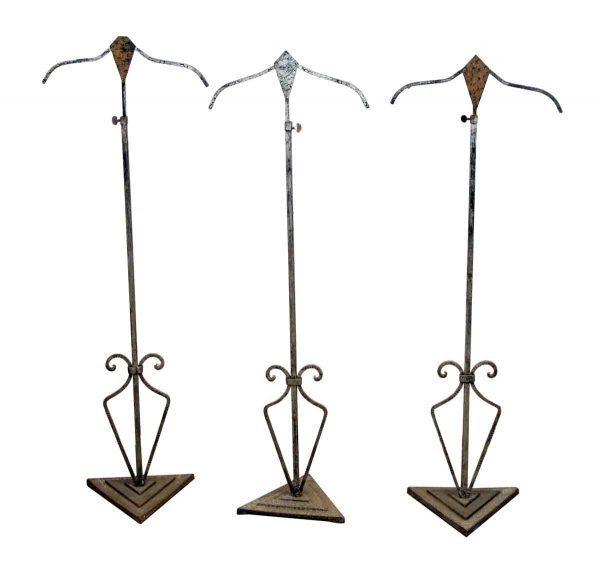 Hammered Iron Art Deco Valet Stands