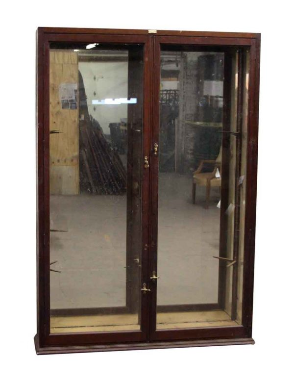 Mahogany Double Door Showcase Cabinet