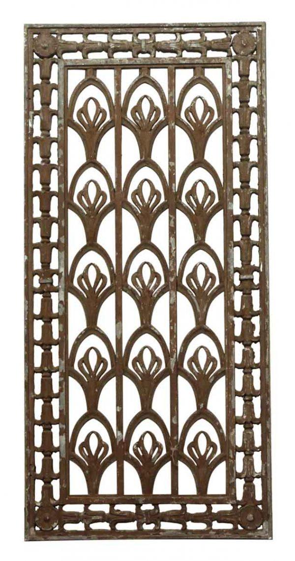 Art Deco Tulip Design Metal Grate