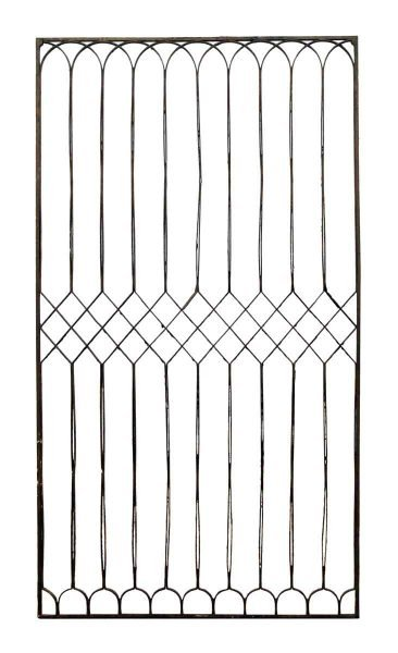 Thin Bared Iron Fence Piece
