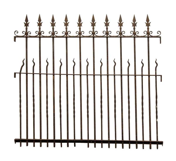 Speared Wrought Iron Fence Section