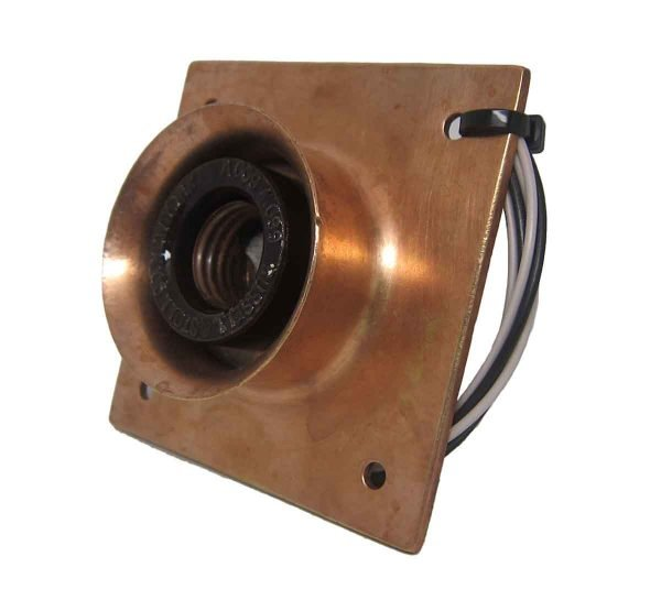 New York Copper Subway Flush Mount Light