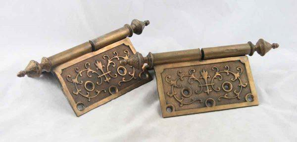 Cast bronze ornate door hinge