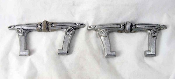 Pair of 1930s French Art Deco Aluminum Pulls