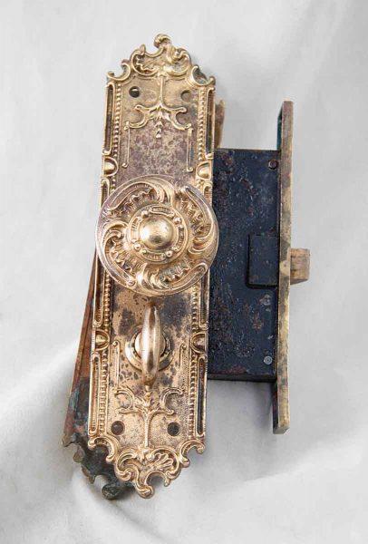Antique Interior Ornate Mortise Lock Set by Corbin