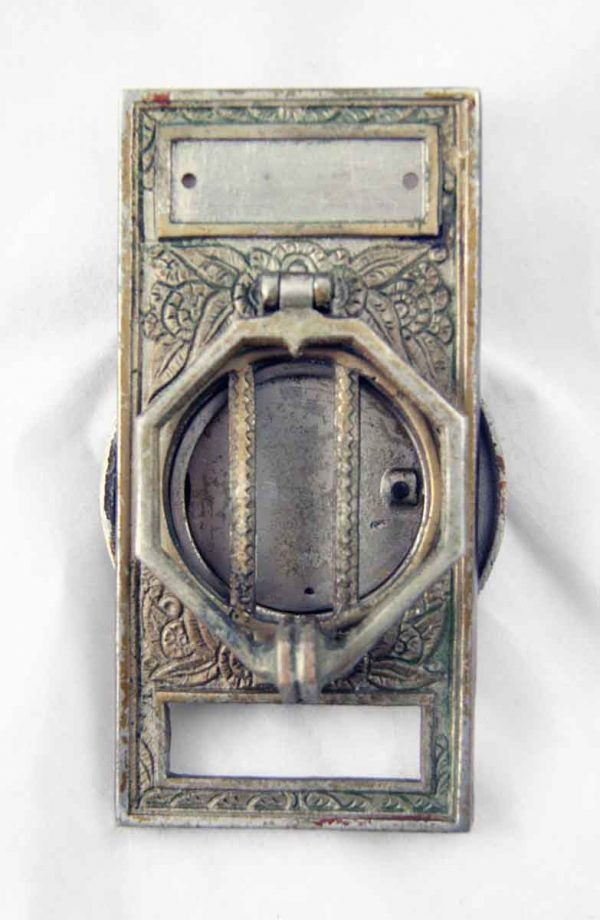 Art Deco door knocker and peephole