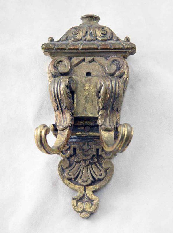 Ornate cast bronze double hook