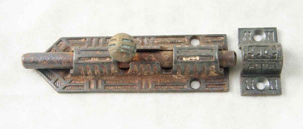 Decorative Victorian slide bolt