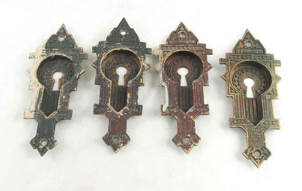 Set of four pocket door hardware