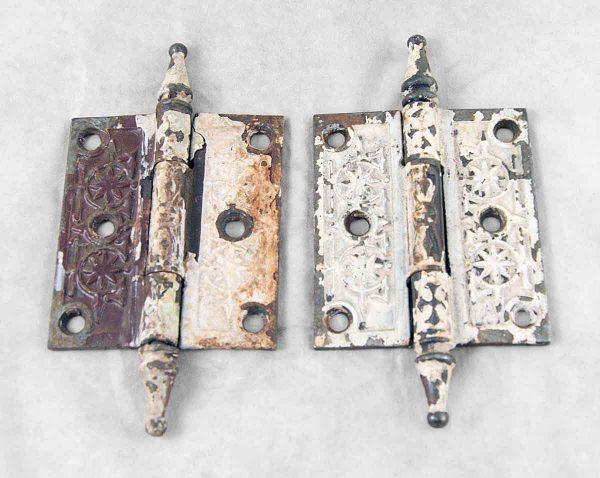 Set of Two Ornate Steeple Door Hinges