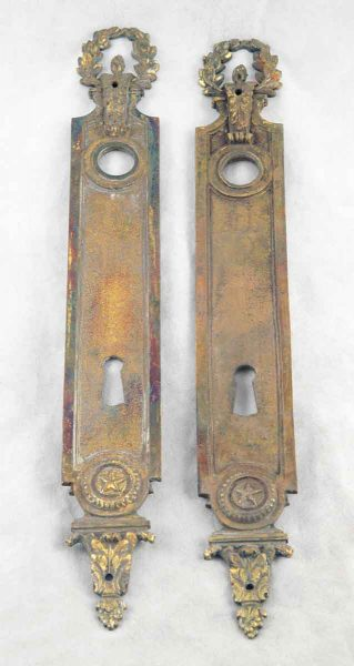 Ornate Brass Backplates with Keyhole