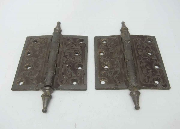 Pair of Iron Victorian Hinges