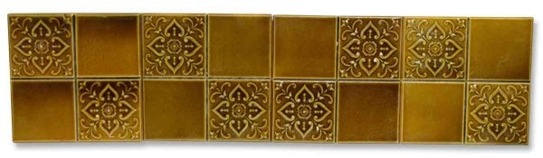 Amber Four Fold Floral Ceramic Wall Tiles