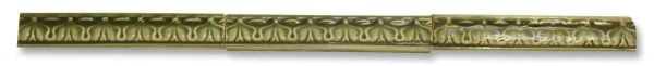 Green Geometric Thin Ceramic Bull Nose Tile Set