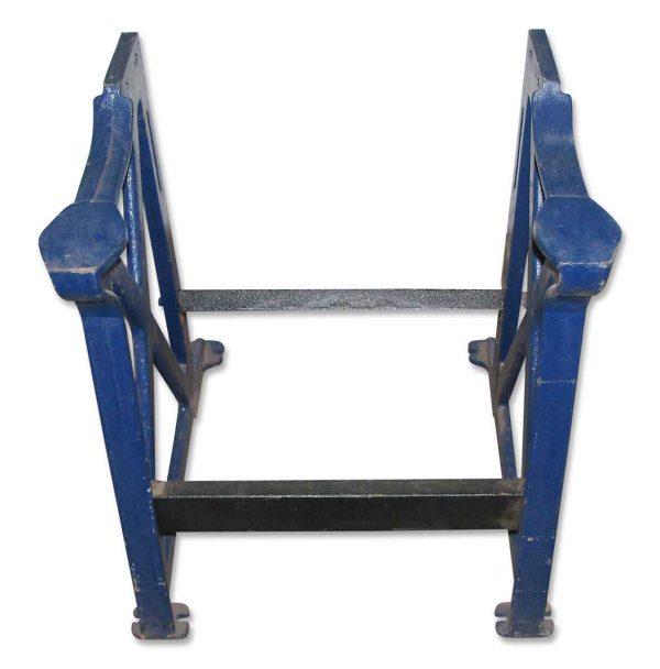 Blue metal base