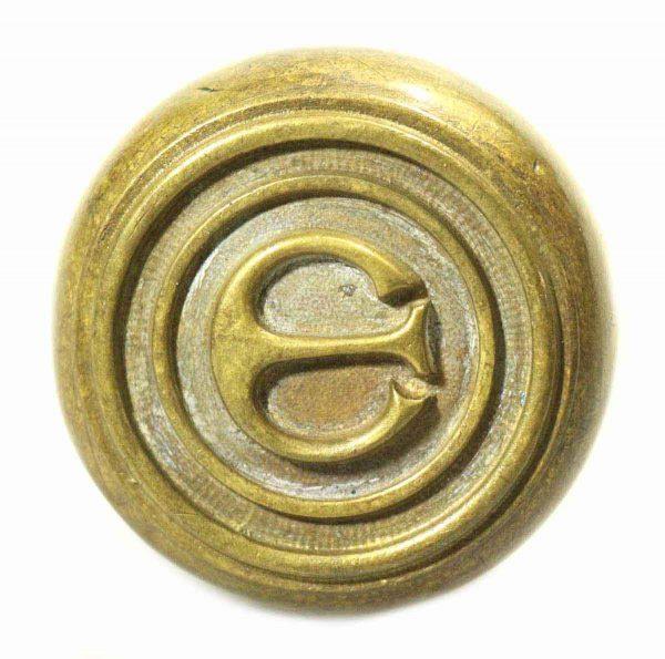 Emblematic E Brass Knob