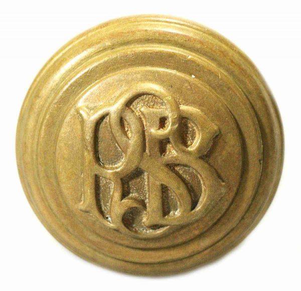 Rsb Emblematic Brass Knob
