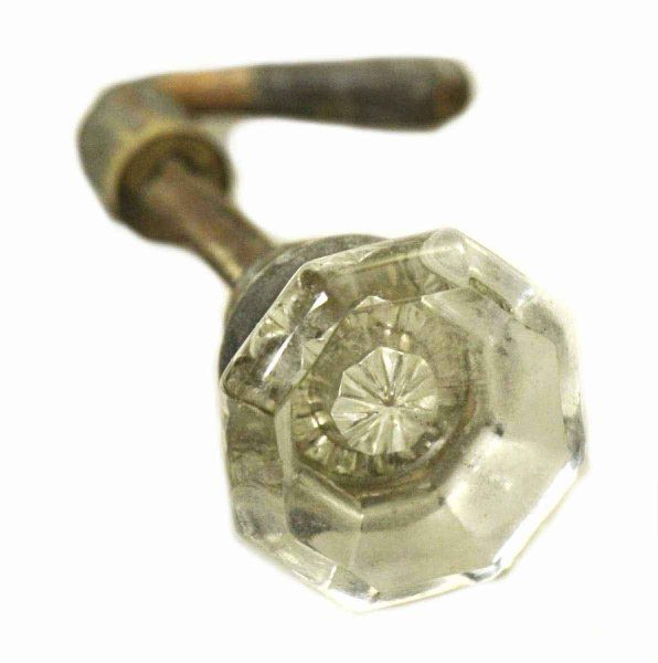 Small Octagon Glass Knob with Lever