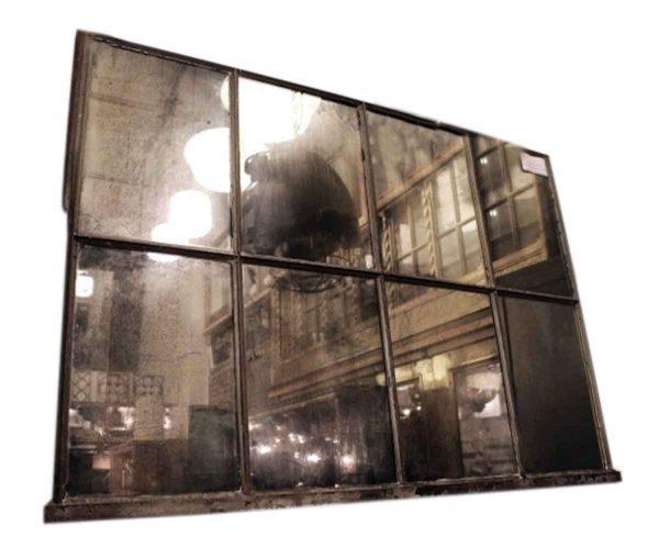 Reclaimed Industrial Mirrored Window