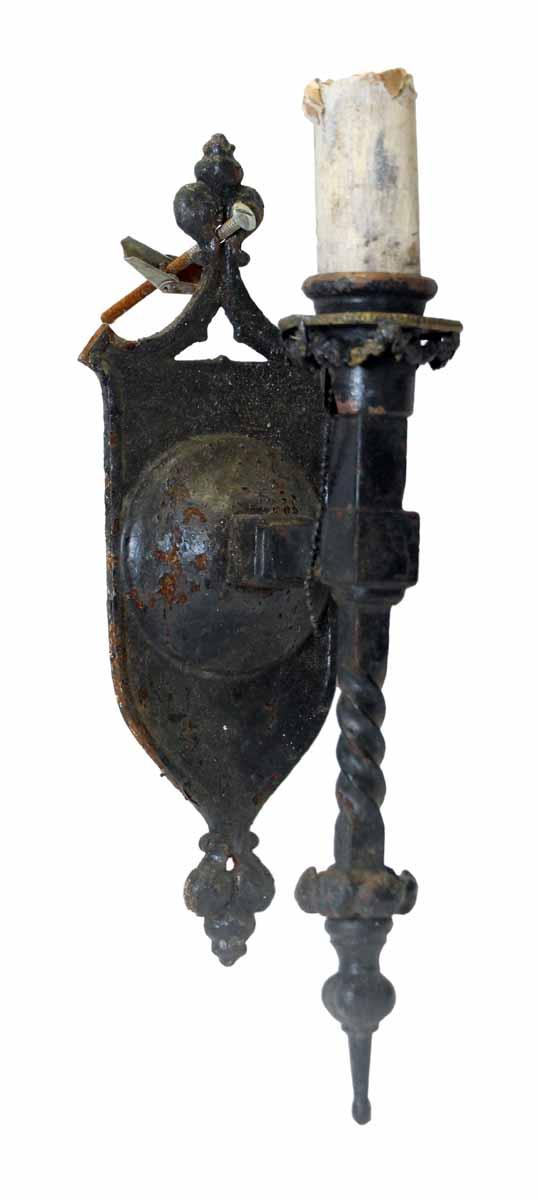 Set of Six Gothic Iron Sconces