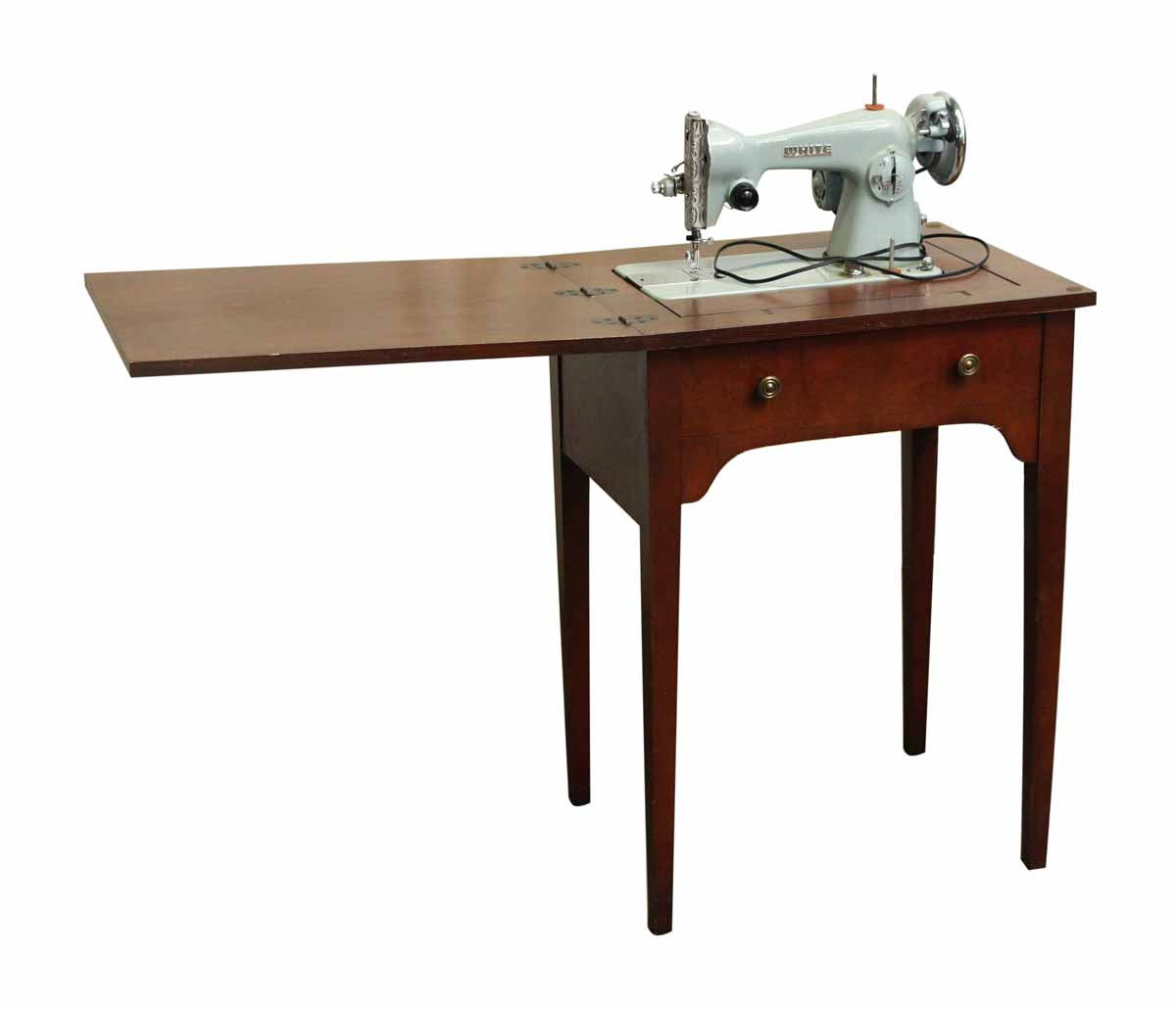 White Sewing Machine Table Combo