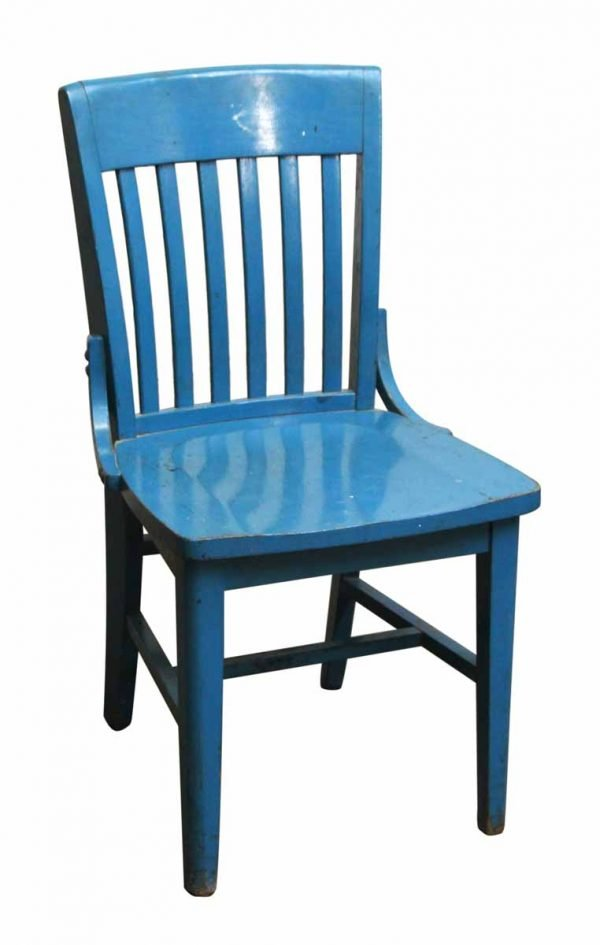 Blue Wood Office Chair