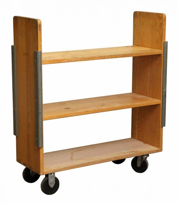 Library Book Cart with Bumpers