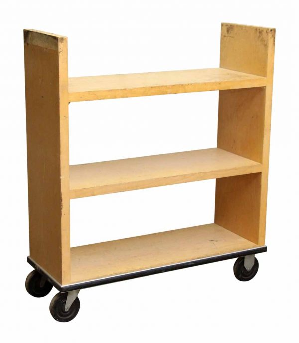 Light Maple Library Book Cart