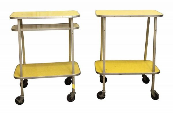 Yellow Formica Counter With Wheels